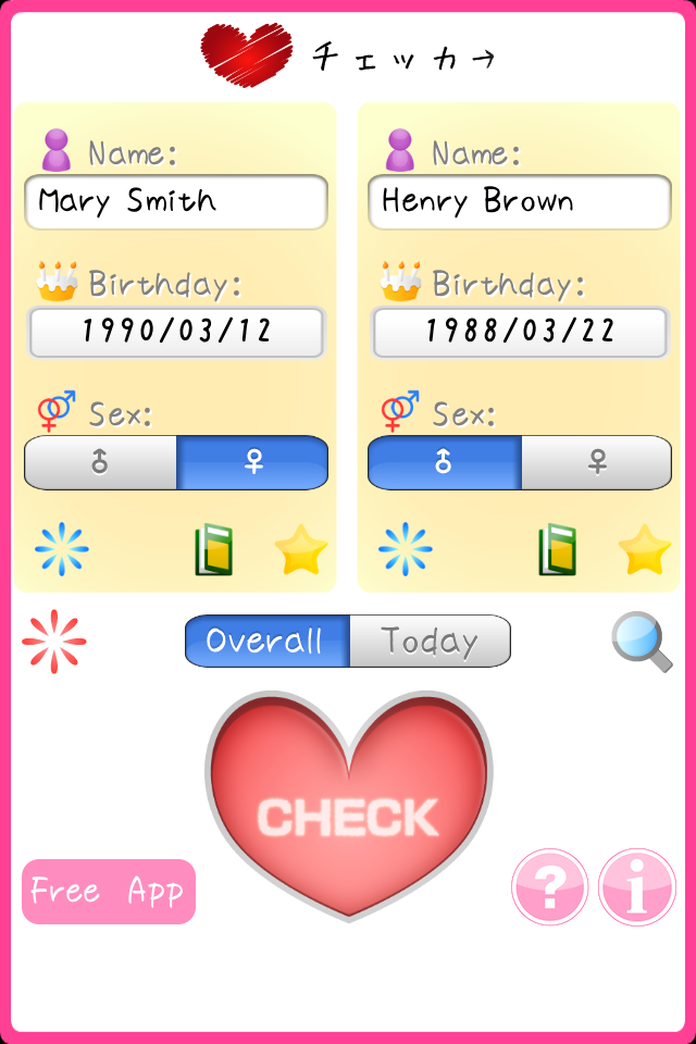 Screenshot Love Checker